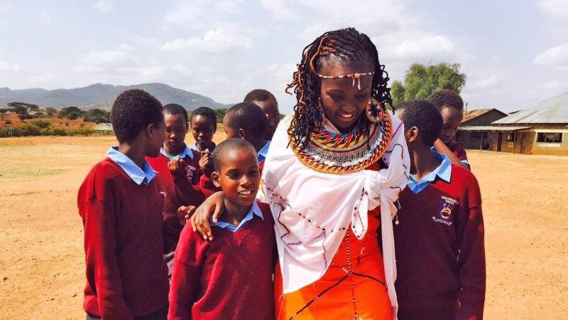 Tuuli Roosma on Samburu hõimu neidude turvakodu ehituseks kogunud juba üle 3000 euro