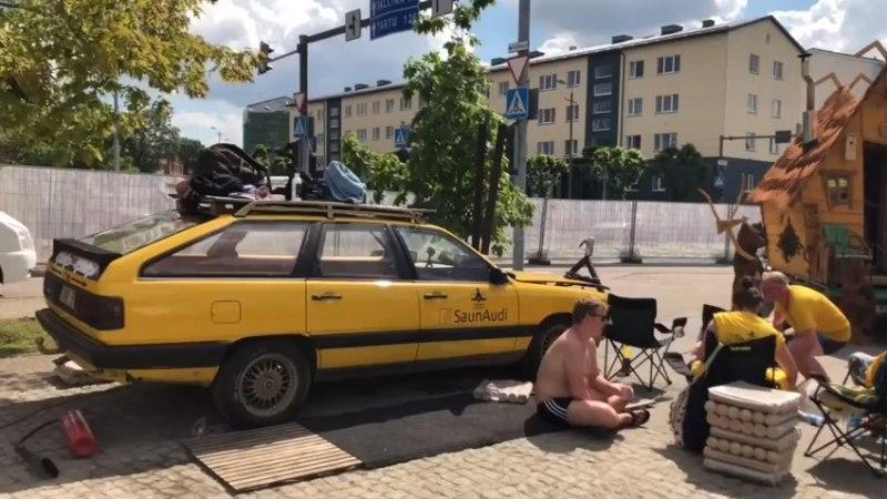 BBC märkas eestlaste poolt vanast Audist loodud sauna